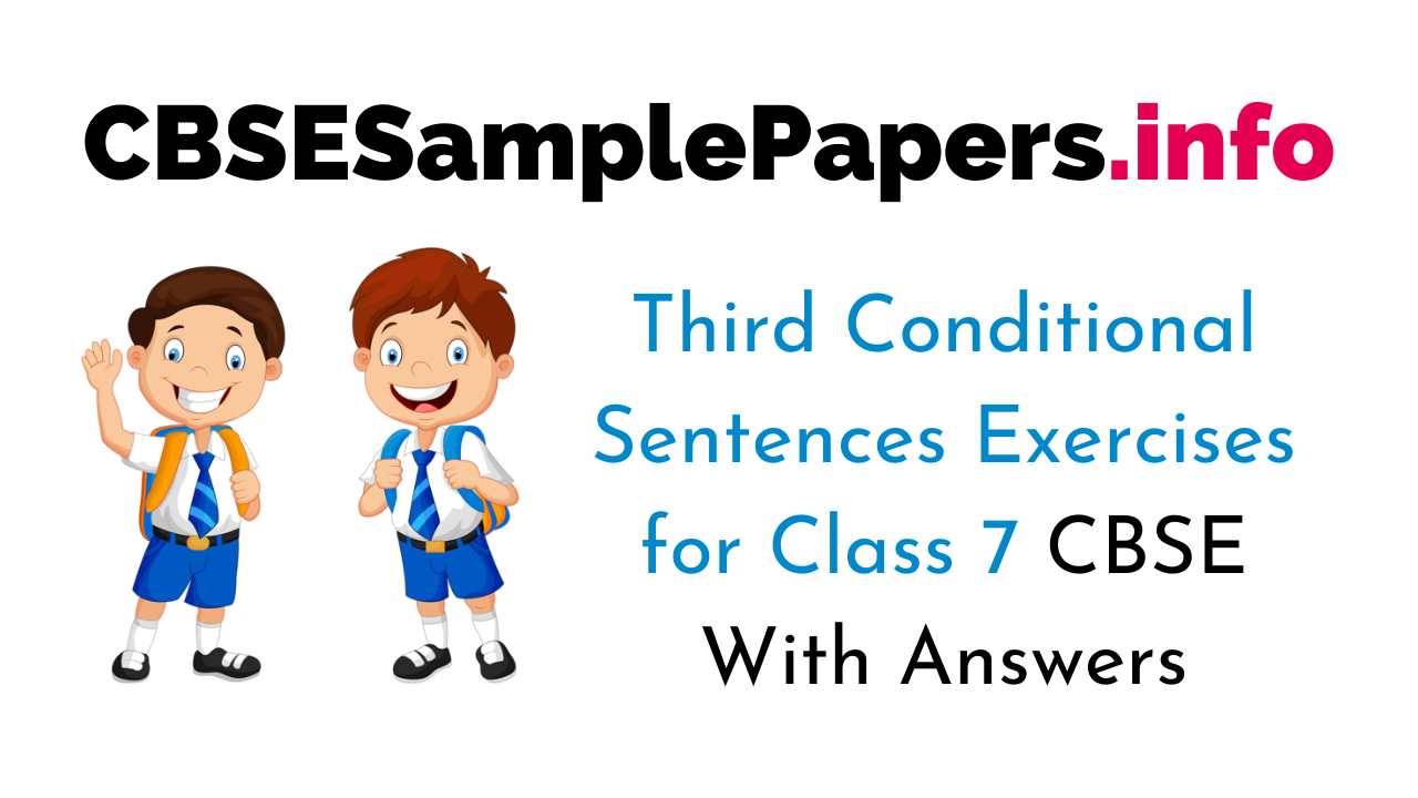 Third Conditional Sentences Exercises for Class 7 With Answers CBSE